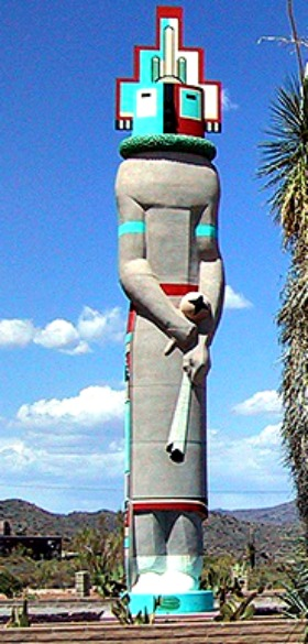 World's Tallest Kachina Doll, Carefree, AZ
